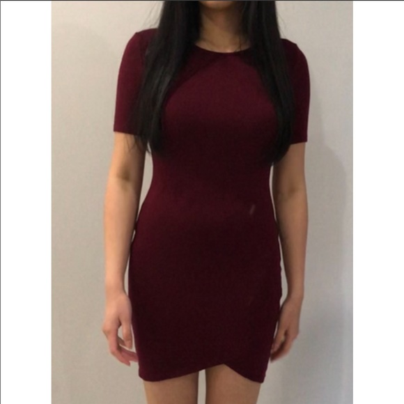 Forever 21 Maroon T-shirt Dress Size: S